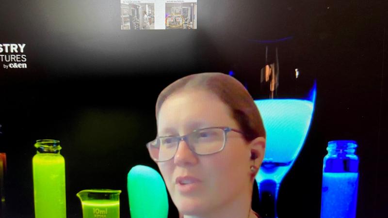 Lena Trotochaud on Zoom during COVID-19