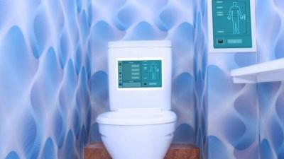Toilet with Technology Background
